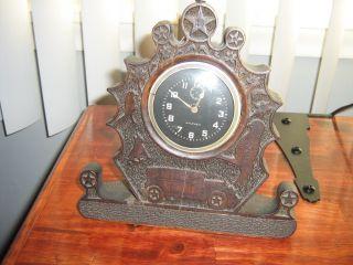 Waltham Clock Vintage Antique Mantel Clock photo