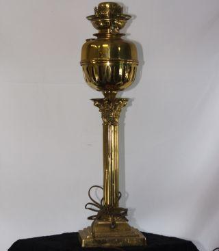 Falk Stadelmann Ornate Brass Banquet Lamp Base - Electrified photo