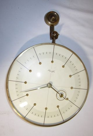 Vintage Art Deco Kienzle 8 Day Wall Clock W/original Bracket/heinrich MÖller photo