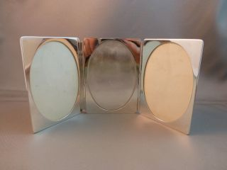 Tiffany & Co Sterling Triple Picture Frame 2.  5x3.  5 Unique Nr photo