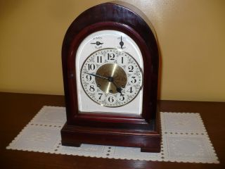 Antique Gustav Becker Westminster Chime Mantle Clock Circa 1927 photo