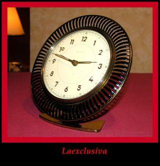 The Most Exclusive Art Deco Bauhaus Design Kienzle Desk Clock. . .  - The Sun Model - photo