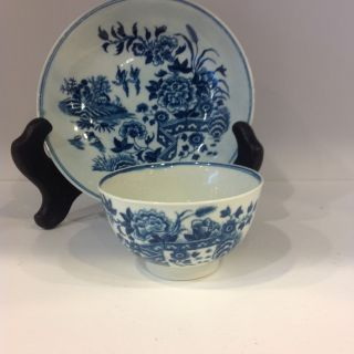 Worcester Dr.  Wall Period Tea Bowl And Saucer photo
