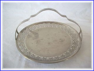 Vintage Manning Bowman Steel Platter W/ Handle Made In Usa photo