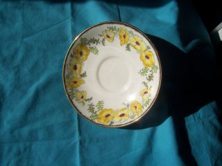 St Brigid Salisbury Fine Bone China Made In England Yellow Floral Gold Guild photo