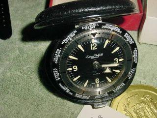 Vintage Swiza Sheffield World Timer Clock Swiss Made [new In Box] photo