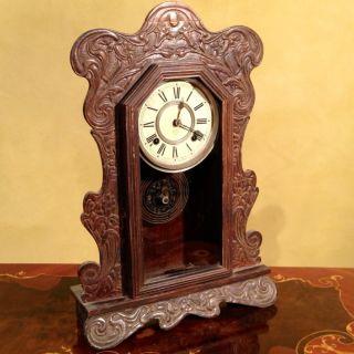Antique American Ansonia Mantle Clockc1800s photo
