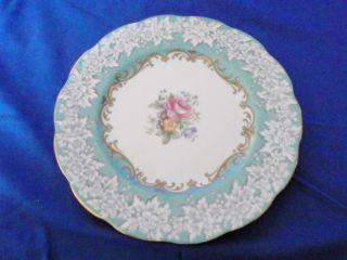 Royal Albert Enchantment Bone China Teal&white Multi Colored Flower Gold Gilding photo