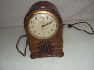 Art Deco Ingraham Self Starting Electric Time & Strike Clock,  Model Ss05 photo