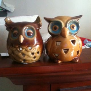 Owl Candle Holders (2) photo