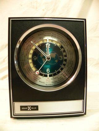 Vintage Howard Miller World Time Parlor Clock Model 622 - 340 Running Order 2ms photo