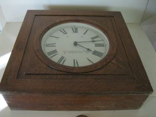The Standard Electric Time Co.  Vintage 6v Wall Clock photo