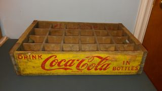 Vintage 1964 Shabby Coke Coca Cola Wood Wooden Soda Pop Case Crate Crates Box photo