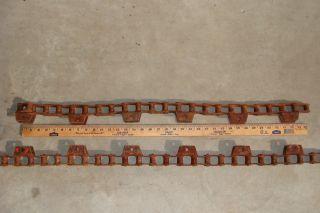7 1/2 + Ft.  Vintage Iron Chain,  Salvage,  Industrial,  Americana,  Art,  Steampunkt photo
