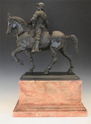 Antique Bronze Of Soldier The Condottiere