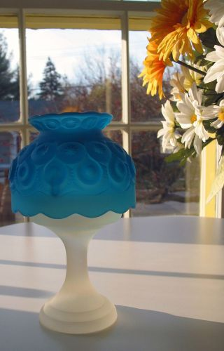 Vintage Satin Glass Candle Lamp 8 Inches photo