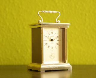 Elegant Hermle Germany Golden Desk Table Clock - Fhs - 60s 70s Junghans Kienzle photo