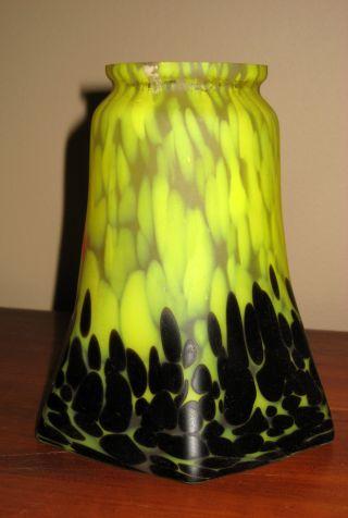 Antique Art Nouveau Glass Lampshade photo
