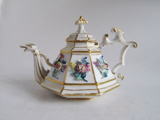 Extremely Rare Russian Imperial Nicholas I.  St.  Petersburg Porcelain Teapot photo