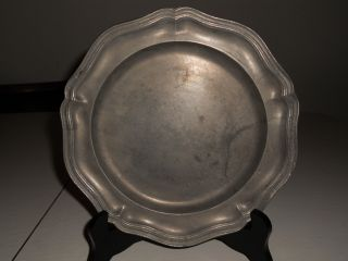 Antique London Pewter Plate,  Nr photo