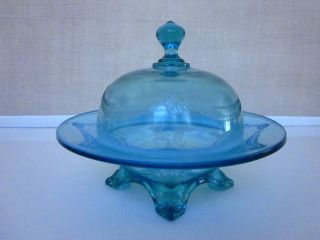 Antique Blue Glass Container photo