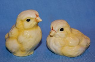 Vintge Pair Goebel Germany Porcelain Ceramic Pottery Baby Chicken Bird Figurines photo