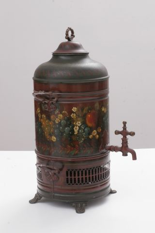 Antique Decorative Urn,  Hand Painted By Peter Ompir photo