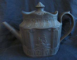 Fine Early 19thc English English Black Basalt Teapot photo