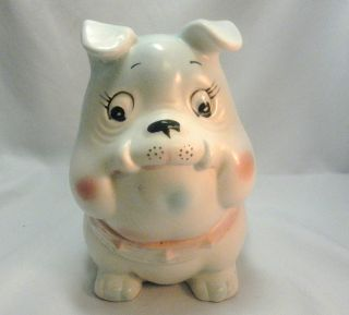 Rare Vintage Napco Bulldog Nursery Planter photo