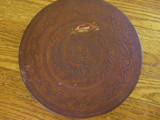 Antique Huntley & Palmer Biscuit Round Tin. . . .  Early 1900 ' S Possibly Older photo
