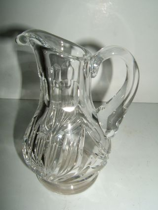 Small Clear Cut Crystal Pitcher,  Vintage photo