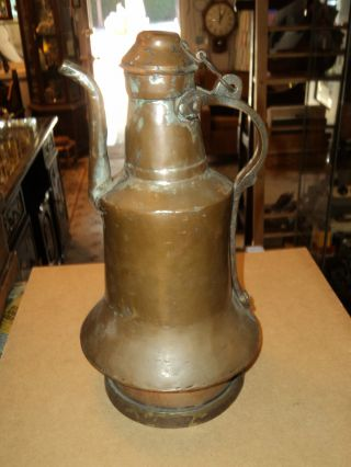 Vintage Copper Coffee Pot Middle East Central Asian Docorator Piece photo