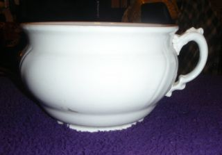 Collectible Antique Porcelain Chamber Pot photo