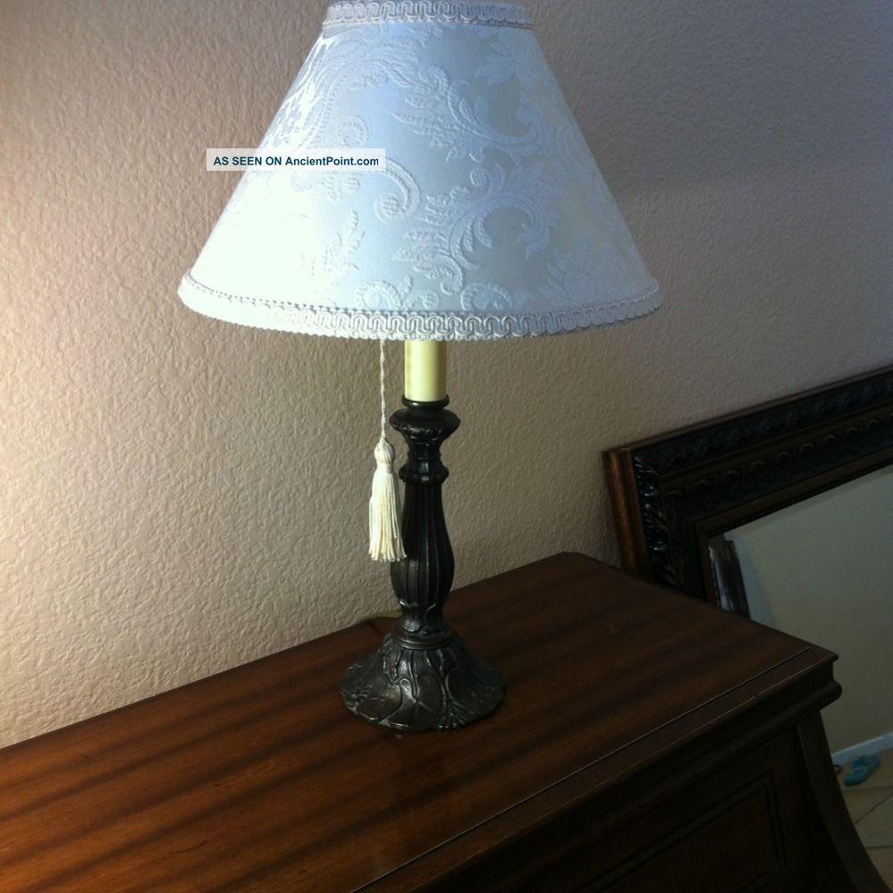 antique table lamp estate sale find