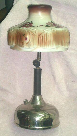 Coleman Quick - Lite Pressure Lamp & Shade,  No Cracks,  Scatches Or Damage photo