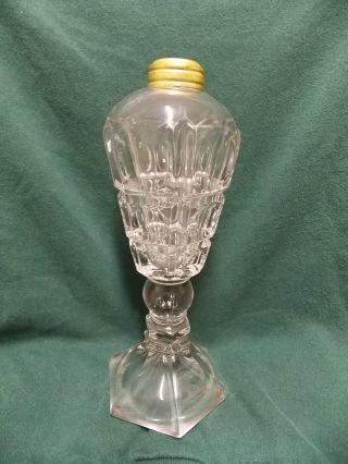 Clear Glass Lamp Base,  Vintage Great Shape. . .  $9.  99 Nr L@@k photo