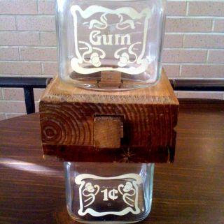 Vintage Anchor Hocking Gum Dispenser photo