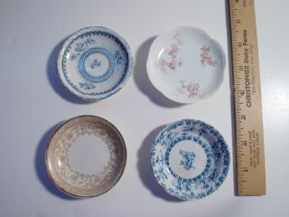 Four Charming Vintage Butter Pats photo