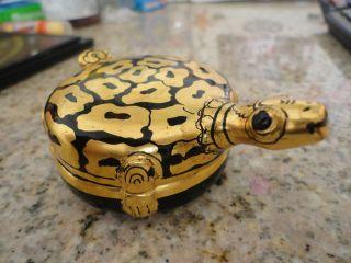 Hard To Find - Lacquerware Turtle Shape Wood Box Tinket Box photo