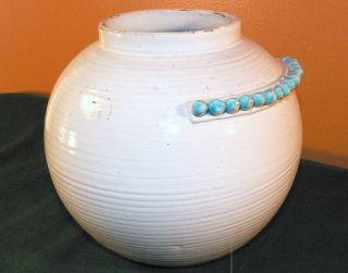 Antique Italian Art Pottery Ceramic Vase - Zaccagnini - - Very Unique - Nr photo