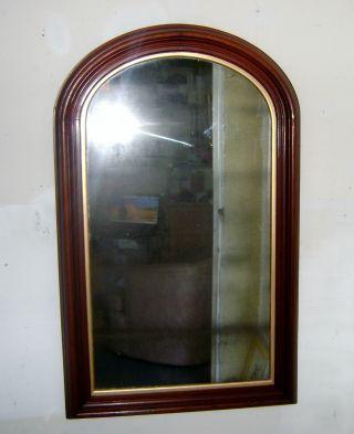 J.  F.  Cabot & Bro Boston Massachuset Ca 1850 Antique American Mirror Wooden Frame photo