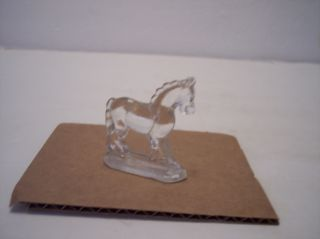 Rare Vintage 1920s Le Smith Miniature Crystal Clear Glass Horse Figurine Figure photo