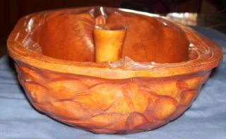 Antique Wooden Nut Bowl Late 1950 ' S. .  Made Of Real Wood photo