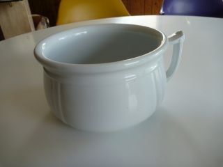 Vintage Chamber Pot Royal Ironstone China Alfred Meakin Made In England photo