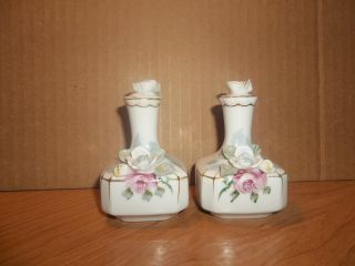 Hand Painted Japan Old Perfume Bottles photo