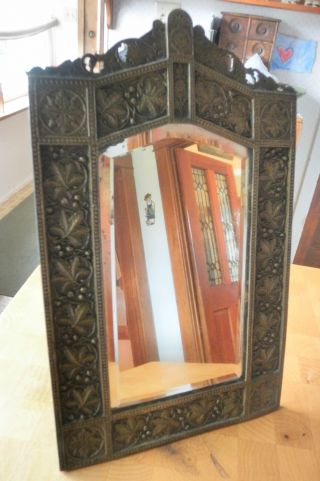 Antique Arts & Crafts Easel Table Mirror photo