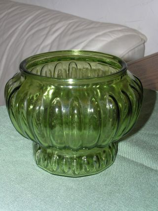 Vintage Green Glass Candy Bowl Made In Usa Pretty Nr photo
