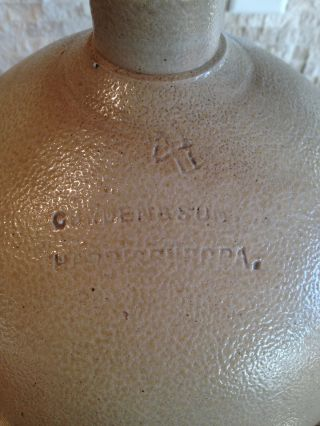 Rare Early Cowden & Son Stoneware Jug Marked 4h Harrisburg,  Pa 5 Gallon Huge photo