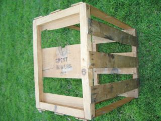 Antique Wood Food Crate Crest Growers,  Inc.  Los Angeles,  Ca 19