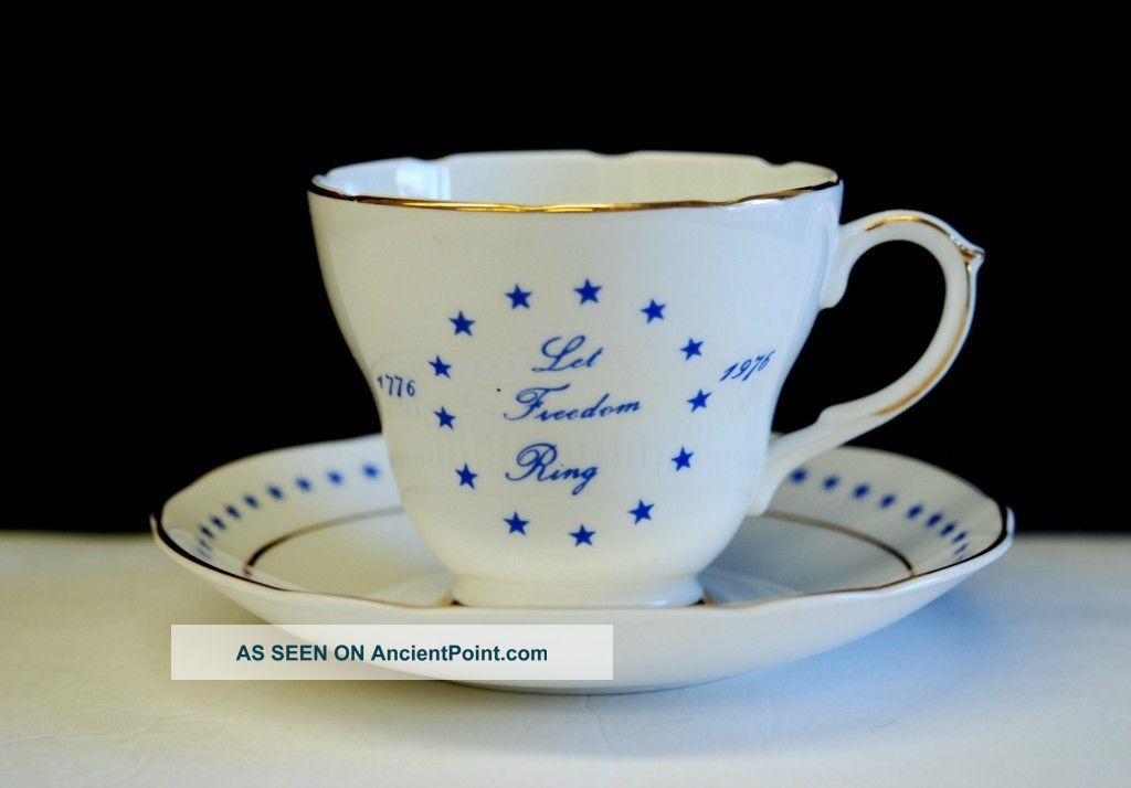 Vintage Royal Crownford 1776 - 1976 U.  S.  Bicentennial Cup & Saucer Limited Edition Cups & Saucers photo